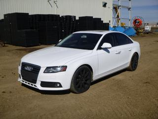 2009 Audi A4 AWD c/w TFSI 2.0, 6 Speed Manual, Showing 181,739 Kms, A/C, Fully Loaded, Leather, Power Sunroof, 245/40R18 Tires at 60%, VIN WAULF68K79N078468 *Note: Power Off Vehicle, Check Oil Message, Runs Rough, Minor Rust On Wheel Wells*