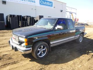 """1994 GMC Sierra """"350 SS"""" SLE 2WD Pick Up c/w 350 TBI, A/T, A/C, Fully Loaded, Showing 317,847 Kms, 255/55R18 Tires at 70%, (2) 10 In. JL Subs, Pioneer 800W Amp, Alpine Deck, Dual Exhaust, Rear Air Bags, Tekonsha Trailer Brake System, Step Side Box, 6 Ft. 7 In., VIN 2GTEC19K7R1503629 *Note: Minor Scratches*"""