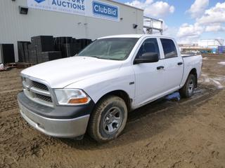 2012 Dodge Ram 1500 ST Crew Cab 4X4 Pick Up c/w 5.7L Hemi V8, A/T, Showing 440,069 Kms, P265/70R17 Tires at 20%, Tekonsha Trailer Brake System, 6 Ft. Box, VIN 1C6RD7KT3CS105904 *Note: Rust and Damage*