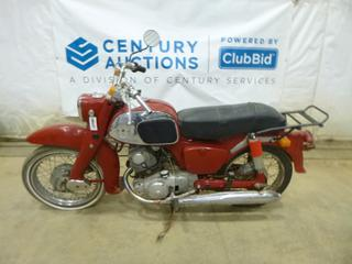 1965 Honda 150 Motorcycle c/w 150, Manual, Showing 23,021 Kms, 3.00-16 Tires *Note: Running Condition Unknown, No VIN*