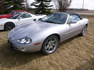 2002 Jaguar XK8 Convertible c/w 4.0L V8 Engine, 5 Speed Auto w/ OD Trans, Leather Interior, Power Top, Showing 100,030 Miles, AB Registered, VIN SAJDA42C52NA24673 *Note: Engine Light Is On*