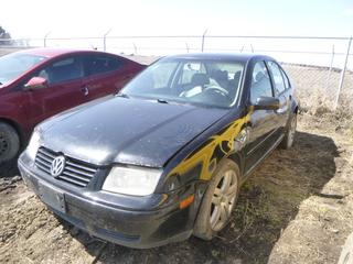 2002 Volkswagen Jetta TDI c/w Diesel, A/T, Fully Loaded, Showing 396,595 Kms, 225/45R17 Tires at 50%, Rears at 70%, VIN 3VWSP29M02M029324 *Note: Engine Turns Over*