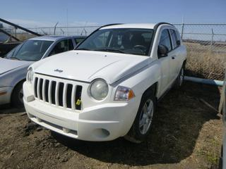 2007 Jeep Compass c/w Dual VVT 2.4L, A/T, Showing 159,129 Kms, 225/65R17 Tires at 80%, VIN 1J8FT47W17D254959 *Note: Running Condition Unknown, Rust*
