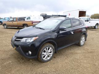 2013 Toyota Rav 4 Limited AWD c/w Dual VVT-1, A/T, A/C, Showing 99,735 Kms, Fully Loaded, Leather, Power Sunroof, 235/55R18 Tires at 40%, VIN 2T3DFREV5DW078042