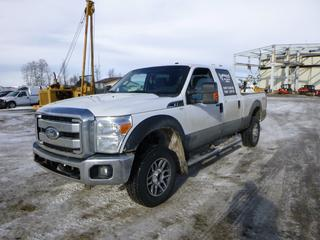2012 Ford F-250 4X4 Crew Cab Pick Up c/w 6.2L, A/T, A/C, Showing 449,861 Kms, Headache Rack, Storage Cabinet, 6 Ft. 8 In. Box, 275/65R18 Tires at 70%, VIN 1FT7W2B66CEA26703 *Note: Check Engine Light On*