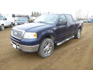 2006 Ford F-150 XTR 4X4 Pick Up c/w 5.4L Triton 3V, Showing 228,650 Kms, Fifth Wheel Brackets, Trailer Brake Controller, LT275/65R18 Tires at 20%, VIN 1FTPW14566FA73145 *Note: ABS Light On, Rust and Scratches*