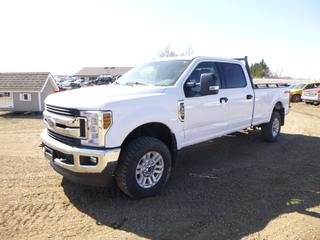 2019 Ford F-350 XLT Super Duty 4X4 Crew Cab Pick Up c/w 6.2L, A/T, A/C, Showing 52,657 Kms, Manual Hub, 8 Ft. Box, LT275/70R18 Tires at 70%, Rears at 40%, VIN 1FT8W3B6XKEF26341