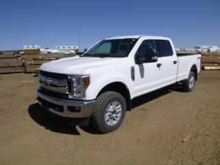 2019 Ford F-350 XLT Super Duty 4X4 Crew Cab Pick Up c/w 6.2L, A/T, A/C, Showing 63,495 Kms, Manual Hub, 8 Ft. Box, 255/70R18 Tires at 60%, 275/70R18 Rear Tires at 50%, VIN 1FT8W3B61KEF44193 *Note: Tire Pressure Sensor Fault*