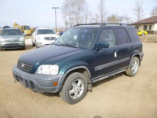 1998 Honda CR-V AWD c/w 2.0L, A/T, A/C, Showing 281,216 Kms, P205/70R15 Tires at 20%, Rears at 30%, VIN JHLRD1853WC811545 *Note: ABS Light On, Rust*