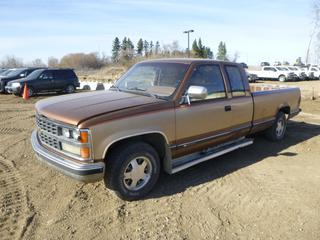 1989 Chevrolet Silverado 1500 Extended Cab Pick Up c/w 6.2L, Diesel, A/T, A/C, Showing 228,511 Kms, 235/75R15 Tires at 40%, VIN 2GCEC19CXK1129161 *Note: Damage and Rust*