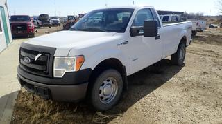 2014 Ford F-150 XL 4X4 Pick Up C/w 3.5L, V6,  A/T, Extended Box And Leather. VIN 1FTPF1ET8EKF41010 *Note: Unable To Verify Mileage, Running Condition Unknown, Cracked Drivers Side Rear View Mirror*