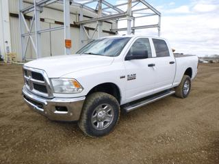 2015 Dodge Ram 2500 Heavy Duty 4X4 Crew Cab Pick Up c/w 5.7L Hemi, A/T, A/C, Showing 180,256 Kms, 2,816 Hours, LT275/70R18 Tires at 40%, VIN 3C6TR5CTXFG608402 *Note: ABS Light On, Engine Light On, Service Anti Lock Brake System*
