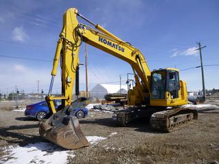 "2018 Komatsu PC238USLC-11 Excavator c/w 60"" Clean-up Bucket w/Hydraulic Thumb, Aux Hyd, TBG, WBM Quick Attach Coupler, Autolock Pins, 31 1/2"" Pads, Joy Stick. Showing 1455 Hrs. SN KMTPC276CTC005401."