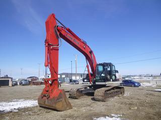 "2017 Linkbelt 290X2 Excavator c/w 62"" Clean-up Bucket, Aux Hyd, TBG, 31 1/2"" Pad, Joy Stick. Showing 4373 Hrs. SN LBXZ9005NHHEX1451."