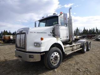 2012 Western Star T/A Truck Tractor c/w 455 HP Detroit Diesel 15, Eaton Fuller 18 Spd, PTO, A/C, A/R, 13,220 Lb Front, 46,000 Lb Rear, GVWR 59,220 Lb, 11R24.5, Showing 374,111 Kms. VIN 5KJJALDR0CPBN5421.