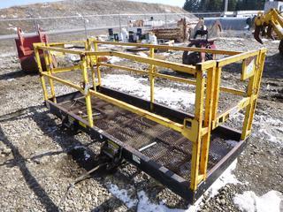 """Star Safety Work Platform 9'8"""" x 4', Load Cap. 1000lbs."""