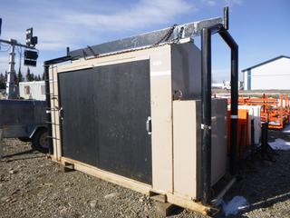 "1987 Stamford Skid Mounted 50KW Generator 136"" x 49"" x 105"" c/w Cummins 4BT-3.9 Engine, Showing 6527 Hrs."