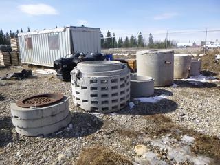 Quantity of Concrete Barrels & Manhole Rings.