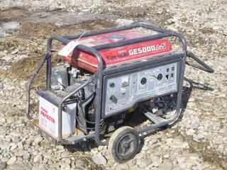Kawaski Generator GE5000 A-S c/w 120/240V Single Phase, 17.9A. *Running Condition Unknown*