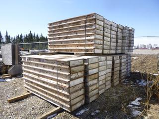 "Quantity of Wood Platforms 96"" x 22"" x 7""."