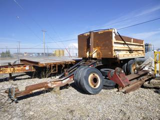 2007 Load Line 17' Gravel Pup, Tridem, Spring Susp. VIN 2D9ED172X71012868. **Parts Only, Cracked Chassis, Missing Tires**.
