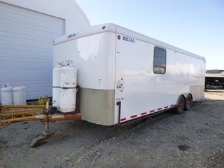 """2005 Royal Cargo Utility Insulated Trailer T/A, 24'10"""" x 8'4"""" c/w Propane Heater, A/C, Wired for Power, 2 5/16 Ball, 235/80R16.   VIN 2ATF0A27653014950."""
