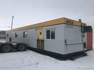 2006 Atco Skid Office 12' x 60', Air Conditioner, 120/240V, 50 Amp Single Phase. Folding Door Steps. S/N 26006-1951 *CONTENTS NOT INCLUDED*
