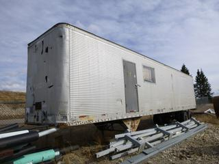 45 Ft. C98SBS T/A Reefer Trailer c/w Spring Susp, 10.00-20 Tires w/ Shelving, SN 12111 *Note: Damaged, Back Door Does Not Close*