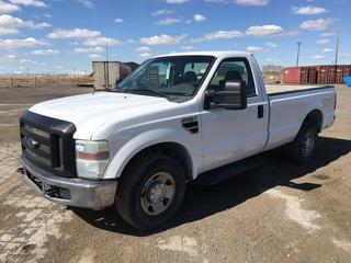 2010 Ford F250 XL Super Duty P/U c/w V8 Gas, Auto, A/C, Showing 222,968 Kms, S/N 1FTNF2A5XAEB22380.
