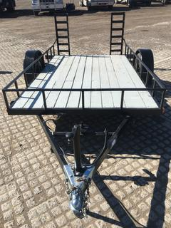"""6'x10' S/A Ball Hitch Utility Trailer c/w 2"""" Ball, Ramps, 215/70R15 Tires."""