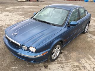 2002 Jaguar X Type AWD 4 Door Sedan c/w 3.9L V6 Dual Cam Shafts, Auto, A/C, Heated Seats, Showing 121,670 Kms. VIN SAJGA51C82WC17477