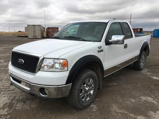 2007 Ford F150 XLT Extended Cab P/U c/w Triton 5.4 V8 Gas, Auto, A/C, Showing 270,471 Kms, VIN 1FTPX14547FA08860. Note:  Cam Phaser Deleted.