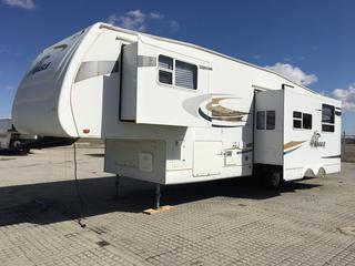2007 Eagle 345BHS 38' 5th Wheel Trailer, A/C 3 Slide-Outs. Sleeps 10, Private Kids Bunk House w/4 Bunks (2 fold-up for extra storage) and access door, Queen-Sized Master with under bed storage. 3 piece Bath w/Shower, Basement pass thru storage w/access from front bunk,  2 x 30# Propane Bottles. VIN 1UJCJ02R671LK0322