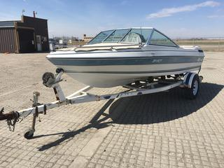1989 Malibu Model 162 16 Ft. Boat c/w GM 4 Cyl, S/A Trailer Boat VIN Z1T16390D888 Trailer VIN 1ZE1FEV10LAD14814
