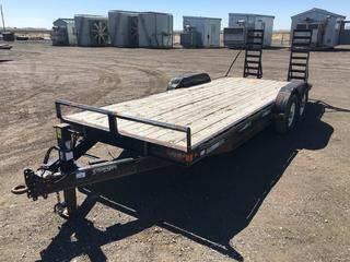 2008 Charger 7'x18' T/A Pintle Hitch Deck Trailer c/w Beavertail w/Ramps, ST235/80R16 Tires, VIN 2DAEC62728T008390.