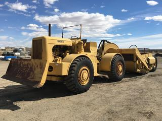 Wagner IND9 Tractor Scraper c/w Cummins 8 Cyl Diesel, 8' Blade, 16.00-25 Tires, Showing 3976, S/N 867.