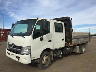 2014 Hino 195 Crew Cab S/A Landscape Truck c/w Diesel, Auto, A/C, 3100 Front Axle, 6200 Rear Axles, Showing 107,350 Kms, VIN JHHWDM2H9EK002315