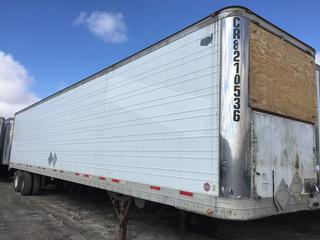 Selling Off-Site -  2002 Wabash 48' Insulated Van TA Trailer Air Ride Suspension VIN 1JJV482W22L817845, GVWR 68000 lbs . Located offsite at 11000 - 114 Avenue Southeast, Rocky View County, AB.