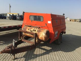 8' S/A Ball Hitch Service/Utility Trailer c/w (2) Air Compressor Tanks. No VIN Available.