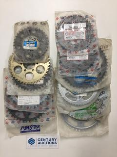 Quantity of Assorted Rear Yamaha Sprockets, 34, 40, 43, 44, 46, 47, 49 & 50's Tooth.