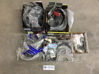 Quantity of Assorted Replacement Shields & Helmet Accessories.