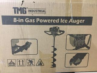 "Unused TMG 8"" Gas Powered Ice Auger."