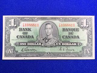 1937 Canada One Dollar Bank Note, S/N FM1088811.
