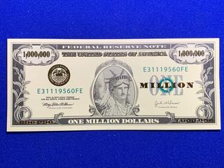 Novelty USA One Million Dollar Book Mark.