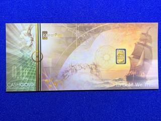 Karatbars 0.10 Gram .999 Fine Gold Bar.