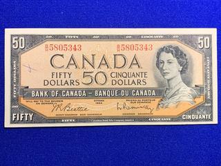1954 Canada Fifty Dollar Bank Note, S/N BH5805343.