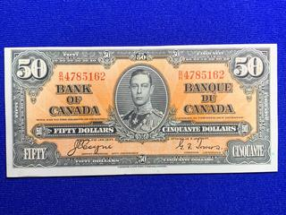 1937 Canada Fifty Dollar Bank Note, S/N 4785162.