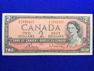 1954 Canada Two Dollar Bank Note, S/N KG1892407.