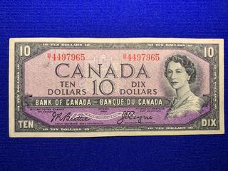 1954 Canada Ten Dollar Bank Note, S/N KG1892407.