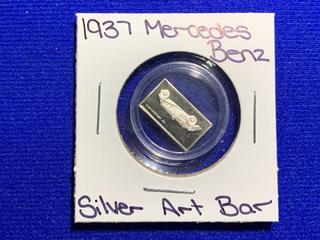 """Sterling Silver Art Bar """"1937 Mercedes Benz""""."""
